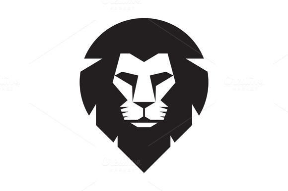 Lion Head Logo Vector Sign