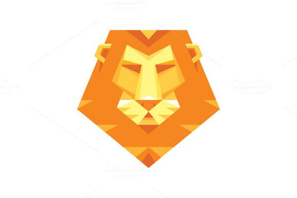 Lion Head Logo Vector Sign
