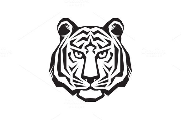 Tiger Head Logo Vector Sign