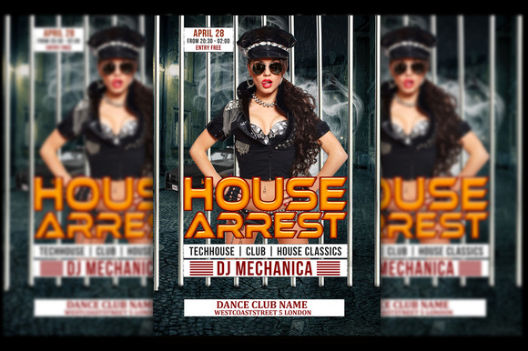 House Arrest Music Flyer