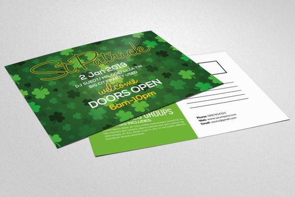 St Patricks Day Invitation Postcard