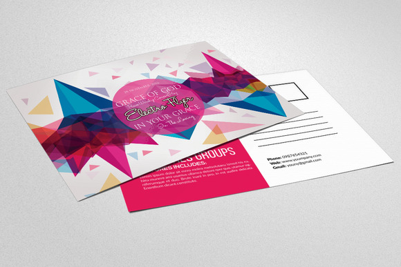 Electro Party Invitation Postcard