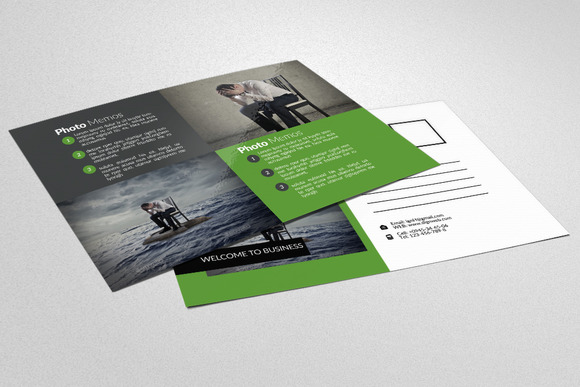 Business Solution Agency Postcard