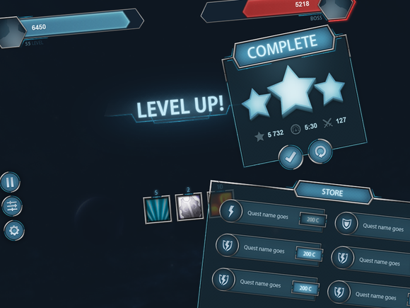 SpaceShift Mobile UI