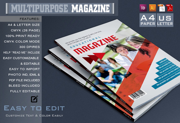 Multi-purpose Magazine Template