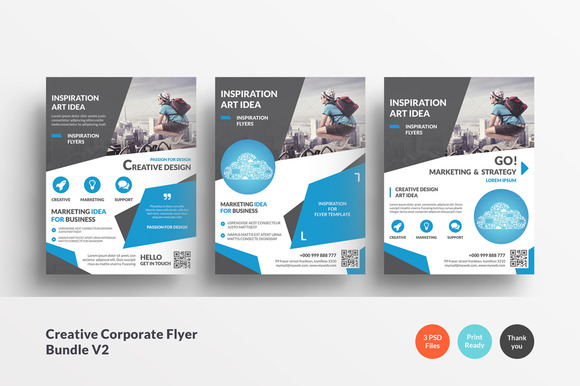Creative Corporate Flyer Bundle V2