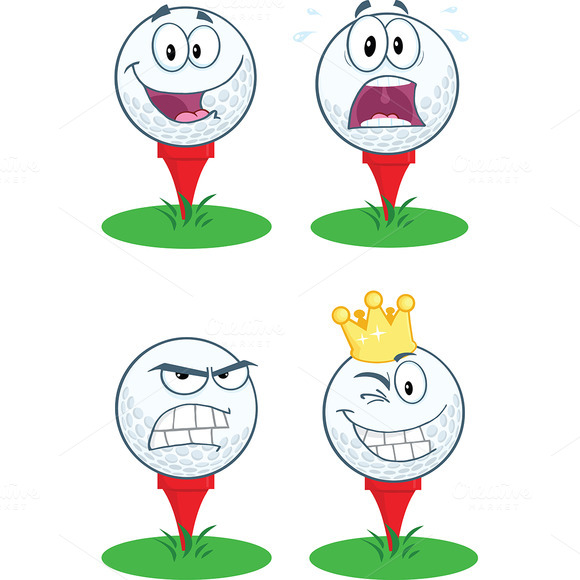 Golf Ball With Tee Collection