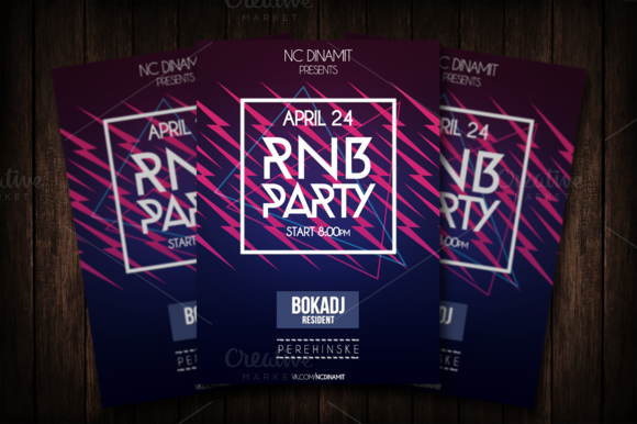 Minimalistic RnB Flyer Template