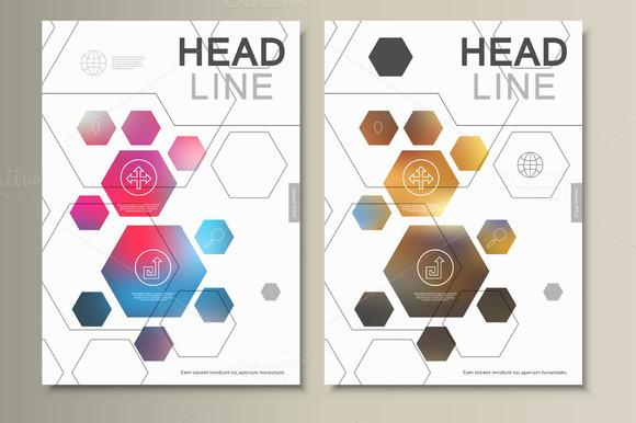 Template Abstract Hexagonal