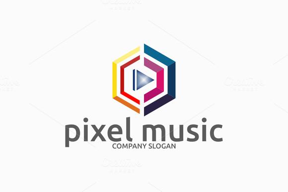 Pixel Music Logo