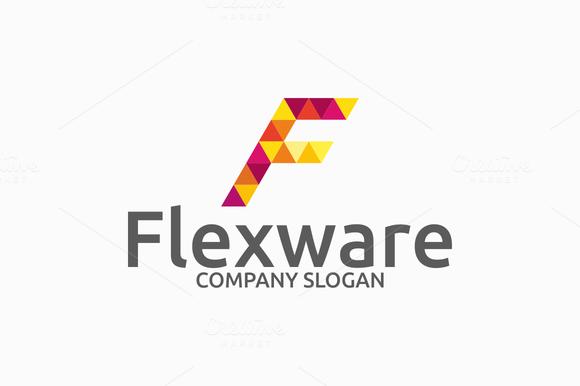 Flexware Letter F Logo