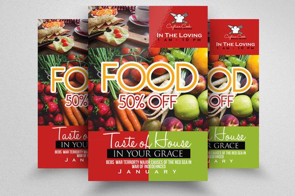 Vegetarian Food Resturant Flyer