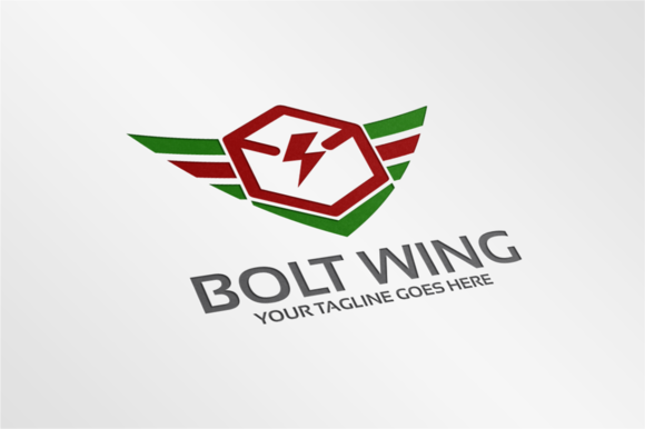Bolt Wing Logo Template