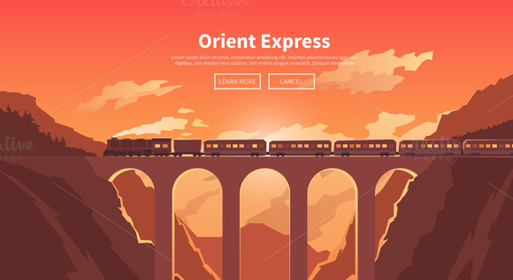Travel By Train Web Banners