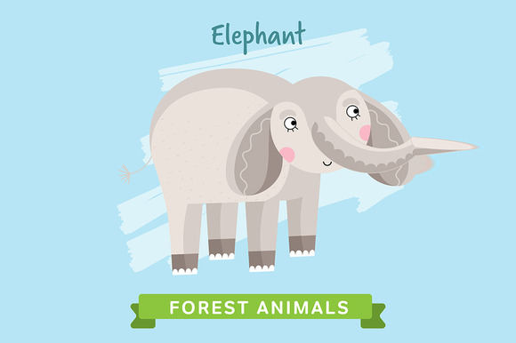 Elephant Vector Forest Animals