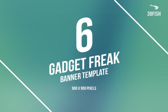6 Gadget Freak Ads Banner