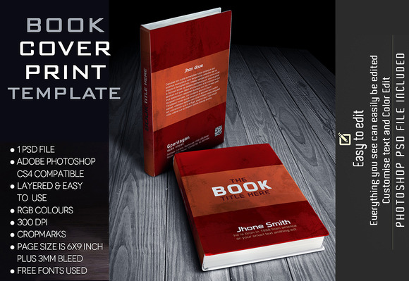 creativemarket book template book cover design 1302311