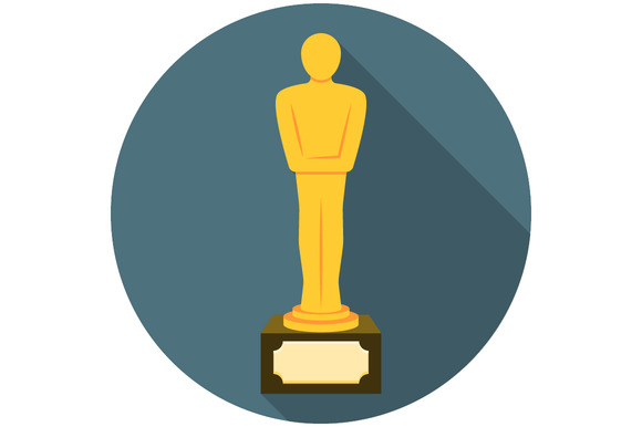 Movie Award Flat Icon