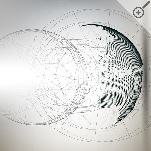 Bundle Of Abstract 3D World Globes