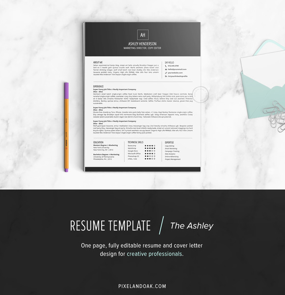 Resume Template The Ashley