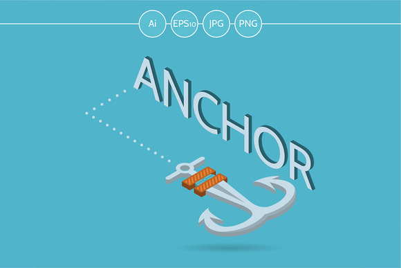 Anchor Isometric Web Element