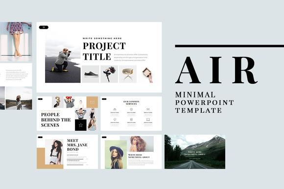 Air Minimal PowerPoint Template