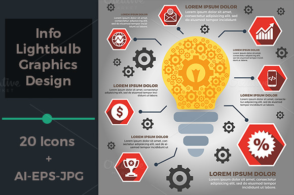 Info Lightbulb Graphics Design