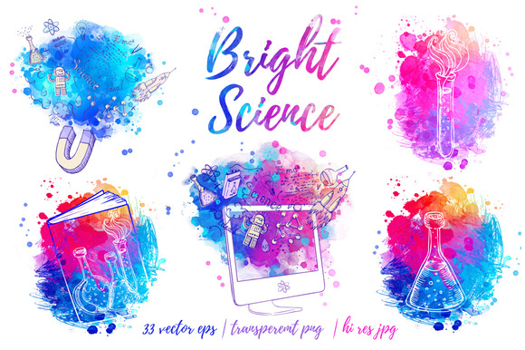 Bright Science Vector Set