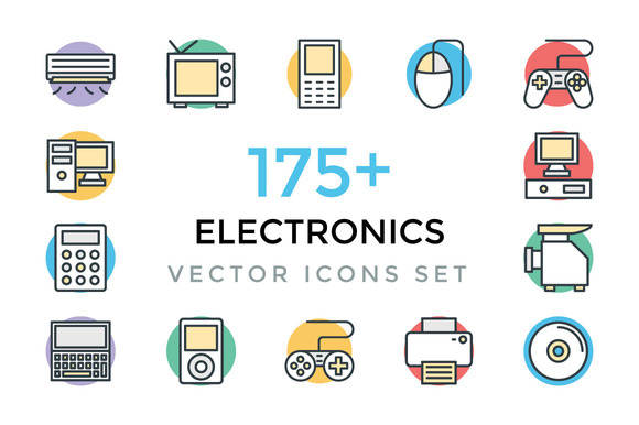 175 Electronics Vector Icons