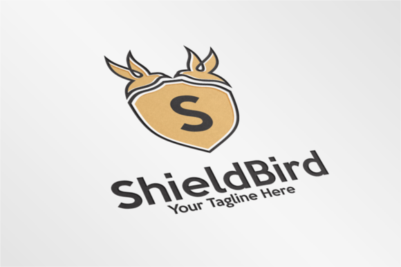 ShieldBird Letter S Logo Template