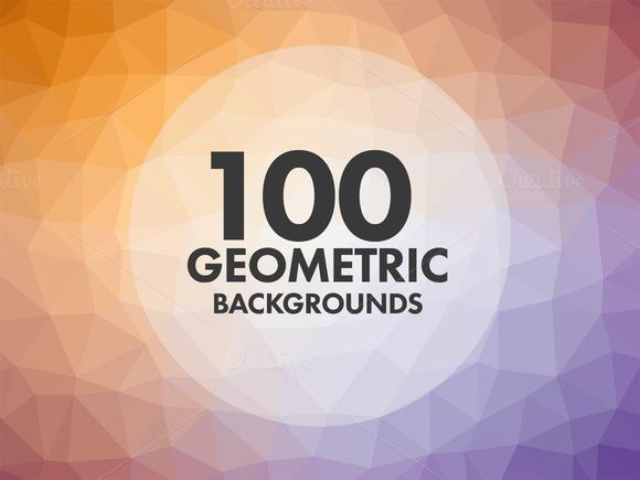 100 Geometric Backgrounds