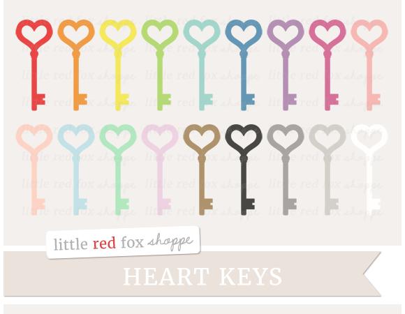 Heart Key Clipart