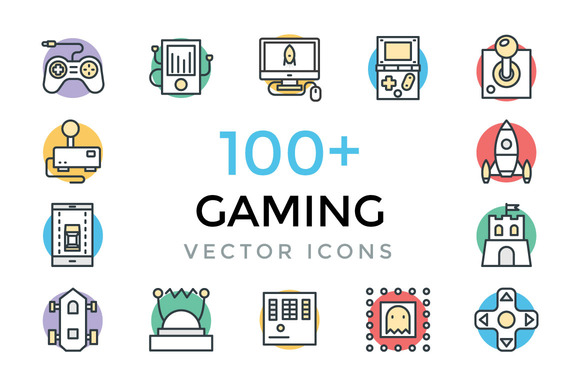 100 Gaming Vector Icons
