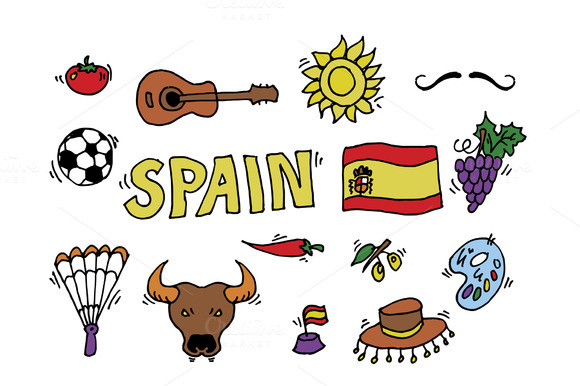 Doodles Symbols Of Spain
