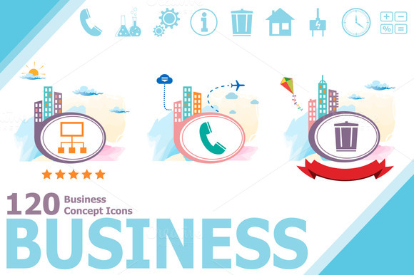 120 Business Vector Icons