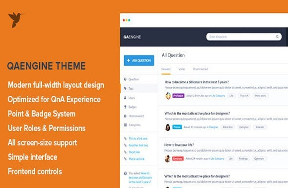QAEngine Question And Answer Theme