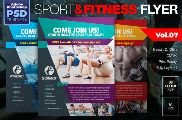 Sport Fitness Flyer Vol.07