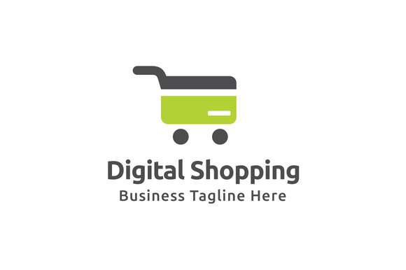 Digital Shopping Logo Template