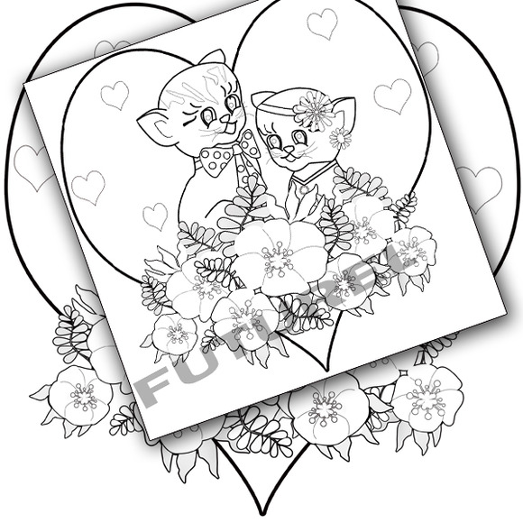 Coloring Pages For Kids Kittens