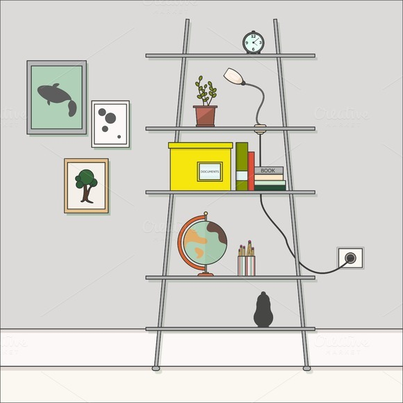 Room Rack With Objects