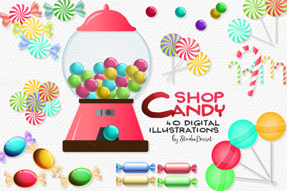 Candy Shop Sweets Cliparts