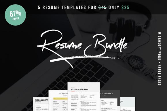 Resume Bundle 5 For $25