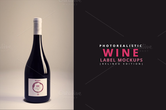 Wine Bottle Label Mockup 5 Relineo