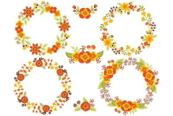 Autumn Floral Wreath