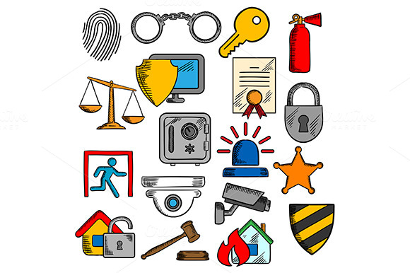 Security Safety Protection Icons