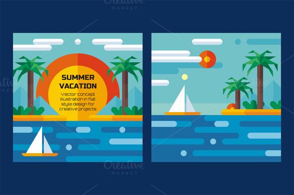Summer Vacation Sea Palms Flat