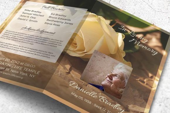 free photoshop funeral program templates  u00bb designtube