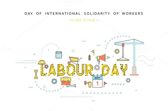Labour Day Desing Concept