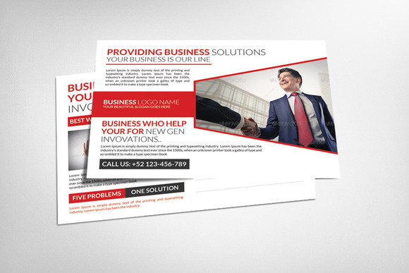 Corporate Business Solution Postcard