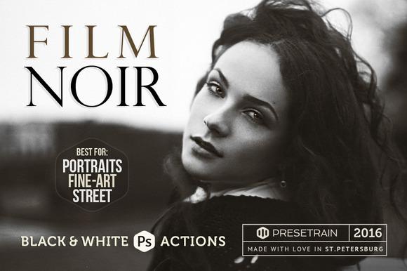 Film Noir B W Photoshop Actions